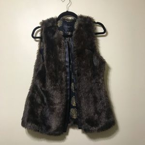 Chocolate faux fur vest